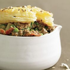 Warm up Rachael Ray's Ground Beef Not-Potpies with Caraway Salt Crusts 30-Minute Meal