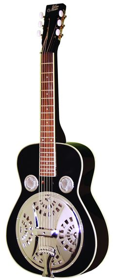 morgan monroe msq 100 bk resonator guitar black select sitka spruce top