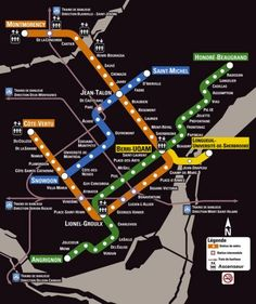 The Metro, which is Montreal's extremely well-run and safe subway system, offers transportation in the city of Montreal and the surrounding areas. Here is the Montreal Metro map Metro Montreal, Quebec Montreal, Montreal Travel, Montreal Ville, Quebec City, Montreal Vacation, Montreal Food, Ottawa, Trains