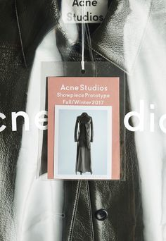 Acne Studios Unveils Its Super Limited Edition Showpiece Prototype Collection - - 100 handmade original pieces. Clothing Packaging, Fashion Packaging, Brand Packaging, Hypebeast, Fashion Tag, Fashion Labels, London Fashion, Collateral Design, Branding Design