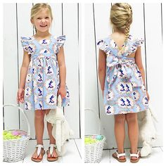 One last sneak before our Blue Bunnies collection is released tomorrow! We  this dress!