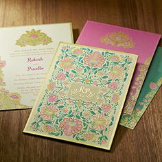 Interfaith wedding cards full view (with any 2 insert) Muslim Wedding Cards, Muslim Wedding Invitations, Indian Wedding Invitation Cards, Indian Invitations, Sikh Wedding, Wedding Stage, Wedding Decor, Wedding Ideas, Wedding Card Design Indian