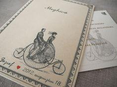 Tandem Bycicle Wedding Invitation Tandem, Wedding Invitations, Books, Art, Art Background, Libros, Book, Kunst, Wedding Invitation Cards