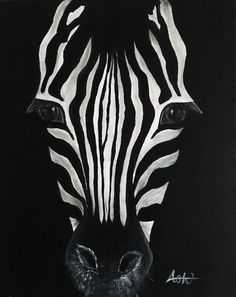 Excited to share the latest addition to my shop: Custom Zebra Portrait Painting Zebra Drawing, Zebra Painting, Pencil Painting, Watercolor Paintings, Acrylic Paintings, Animal Paintings, Animal Drawings, Elephant Head Tattoo, Cute Easy Paintings