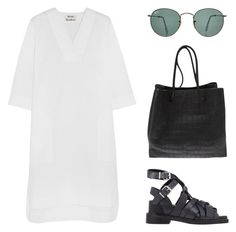 """""""Ghost"""" by carocuixiao ❤ liked on Polyvore featuring Acne Studios, Ray-Ban and Alexander Wang"""