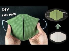 Diy Mask, Diy Face Mask, Easy Face Masks, Easy Sewing Projects, Sewing Hacks, Sewing Tutorials, Sewing Crafts, Sewing Patterns Free, Pattern Sewing