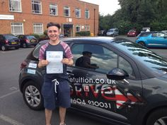 """1ST TIME PRACTICAL DRIVING TEST PASS COURTESY OF A-DRIVE!!!!  Congratulations to Tom Salvage of University of Northampton who passed his practical driving test 1st time 24/7/14 with only 5 minor driver faults at Northampton DTC with Andy McIntosh of A-Drive  #DrivingSchools #DrivingLessons #DrivingInstructors #Northampton #Wellingborough     Tom said """"Thanks Andy. I've really enjoyed my lessons, you made me feel so ready for test. I'll definitely come back for pass plus and pass your number…"""