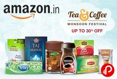 Amazon brings #Tea & #Coffee #Monsoon_Festival and offering Upto 30% off on Tea & Coffee Products. Bru Gold Instant Coffee 100g @ Rs.184 Brooke Bond Red Label Tea 500g @ Rs.173 Nescafe Chocomocha 5 Sachets 75g @ Rs.85 Lipton Loose Leaf Green Tea 250g @ Rs.140 Lipton Honey Lemon Green Tea 25 Tea Bags @ Rs.98  http://www.paisebachaoindia.com/tea-coffee-monsoon-festival-upto-30-off-amazon/