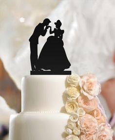 Fiance & Fiancee in Hand Kiss Wedding Engagement Cake Toppers…