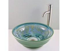 bathrooms with vessel sinks | Ceramic Vessel Sinks > Classic Handcrafted Porcelain Clay Vessel Sink ...