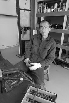 Kensuke Todo - sculptor and 2014 ACT Artist of the year. In his studio at Strathnairn Arts, December 2014 December 2014, Acting, Studios, Art, Craft Art, Kunst