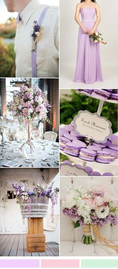 light purple lilac wedding color ideas with lilac bridesmaid dresses for spring summer weddings 2016