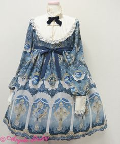 Angelic Pretty Celestial OP in Navy (first release) « Lace Market: Lolita Fashion Sales and Auctions