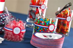Candy display at court of honor