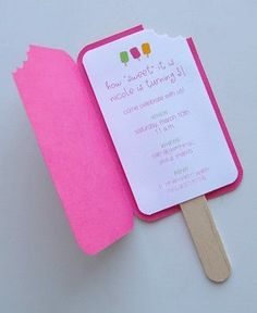 Lolly pop invitation
