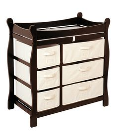 Take a look at this Espresso Sleigh Six-Basket Changing Table by Badger Basket on #zulily today!