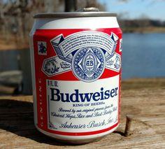 On Sale Short Budweiser 8oz Can Empty Sta-Tab Aluminum/Man