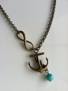 Anchor for the Soul Inspirational Infinity and Anchor Necklace by CeruleanLife, $13.50. I could so use this as a Navy Girlfriend necklace :)