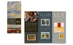 Art Gallery and Artist Tri Fold Brochure Template Design by StockLayouts Brochure Layout, Brochure Template, Brochure Design Inspiration, Design Ideas, Layout Inspiration, Leaflet Design, Letterhead Design, Cookies Et Biscuits, Art Gallery