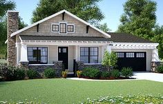 """Plan No: W18267BE Style: Craftsman, Ranch, Shingle Style, Cottage, Northwest Total Living Area: 1,199 sq. ft. Main Flr.: 1,199 sq. ft. Basement Unfinished: 1,362 sq. ft. Front Porch: 144 sq. ft. Rear Porch: 143 sq. ft. Attached Garage: 2 Car, 427 sq. ft. Bedrooms: 2/3 Full Bathrooms: 2 Half Bathrooms: None Width: 50'2"""" Depth: 50'8"""" Maximum Ridge Height: 19'8"""" Exterior Walls: 2x6 Ceiling Height:  Main Floor: 9'  Other: Vaulted Living Room, Dining Room and Kitchen Standard Foundations…"""