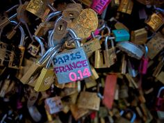 you've heard of locks of love on the bridge in paris, right? more like on just about every bridge in paris!