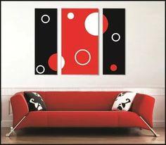 Cuadros Modernos Dípticos Trípticos Abstractos Minimalistas - $ 800,00