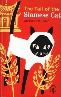 Siamese cat book cover Illustration by Eccles Williams