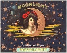 Moonlight cigar box label