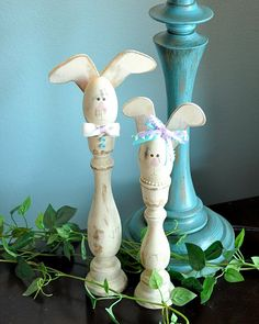 Easter candlestick bunny DIY! cannot wait to make these little guys!