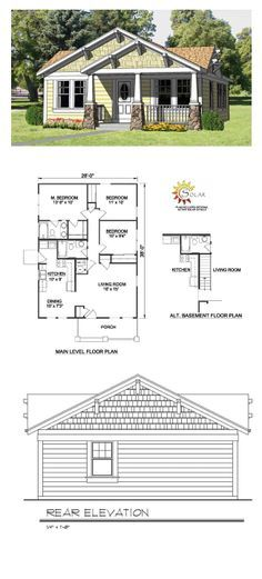 1000 images about small house plans on pinterest small for Garage master sf