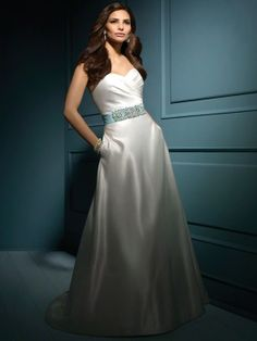 Camille-Vestido de Noiva em cetim - dresseshop.pt