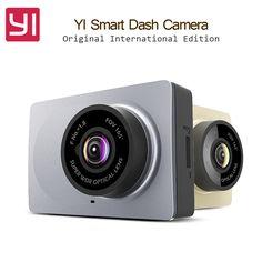 Original International Edition Xiaomi YI Smart Car DVR WiFi Xiaoyi Dash Camera 165 Degree ADAS 1080P 60fps 2.7Inch Car Camera