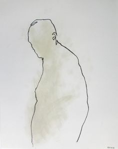 Minimal Male Figure Drawing 11 x 14 from by derekoverfieldart