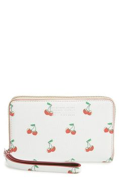 MARC BY MARC JACOBS 'Fruit - Wingman' Leather Phone Wristlet. #marcbymarcjacobs #bags #leather #pouch #accessory