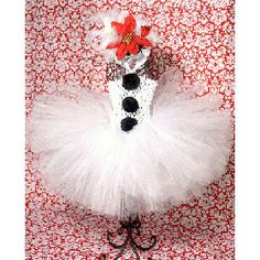 Frosty the Snowman Tutu Dress -- ideas for tutu dresses to make!