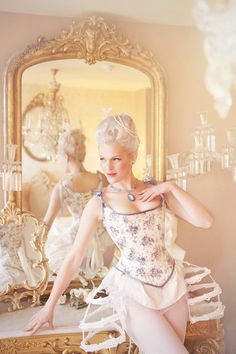 Marie Antoinette Hybride Corset Stays Custom Made your choice of fabrics SALE PRICE. €350.00, via Etsy.
