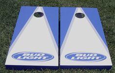 Bud Light Cornhole Design aka Bean Bag Toss Set, Baggo, Tailgate Toss Game Boards, Corn Hole Board Designs.