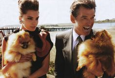Pierce Brosnan and Daria Werbowy photographed by Mario Testino for Vogue US 2008