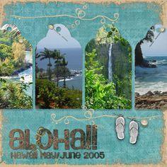 scrapbooking hawaii layouts | hawaii album title page