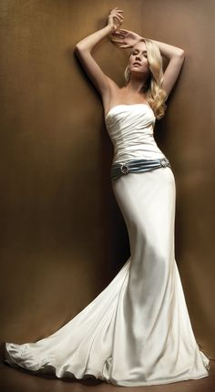 Silk Charmeuse Gown by Amy Michelson http://www.lilibridals.com/blog/
