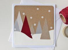 Unique Christmas Cards, Handmade Christmas Tree, Christmas Card Crafts, Homemade Christmas Cards, Printable Christmas Cards, Christmas Greeting Cards, Christmas Greetings, Homemade Cards, Christmas Trees