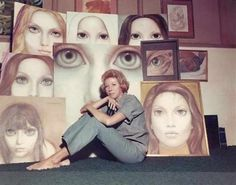 Margaret Keane is 87 years old, an impish woman in a blue suit, a turtleneck, and jeans who'd been up until 3 o'clock in the morning December 15 for premiere of Big Eyes, the new Tim Burton film about her (click on the picture to read the details)