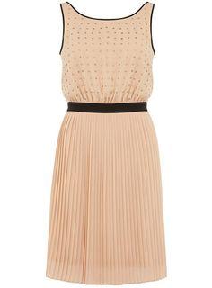Blush stud front dress - Dresses Sale - Dresses  - Clothing