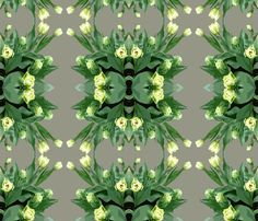 Green Tulips fabric by susaninparis on Spoonflower - custom fabric