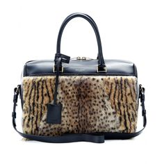 mytheresa.com - Duffle 6 leopard-print fur and leather bowling bag - Luxury Fashion for Women / Designer clothing, shoes, bags