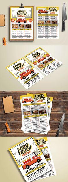 Retro Menu Flyer Template AI, PSD Food Menu Templates Pinterest