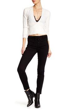 Cindy Lace-Up Skinny Jean