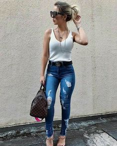 Fashion nova jeans outfits shoes 60 super ideas Fashion nova jeans outfits shoes 60 super ideas SEE DETAILS Style Casual, Casual Chic, Casual Looks, Jean Outfits, Casual Outfits, Cute Outfits, Casual Jeans Outfit Summer, Look Fashion, Fashion Outfits