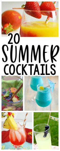 There's nothing I love more than refreshing Summer cocktails on a warm day. They can make your Summer parties, or make for a delicious drink, any day. Here I've got 20 of the best Summer cocktails for you.