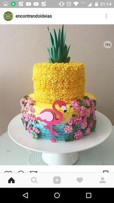 Ideas For Party Ideas Birthday Straws 13th Birthday Parties, Pink Flamingo Party, Flamingo Birthday, Hawaiian Birthday, Luau Birthday, Hawaiian Party Cake, 10th Birthday, Birthday Ideas, Sweet 16